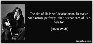 oscar wilde self developement