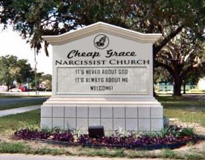 Cheap grace narcissist