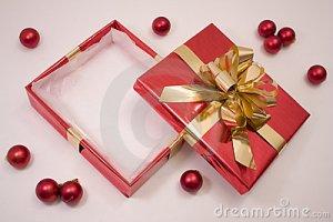 empty Christmas box