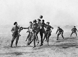 Football in No-Man's-Land during 1914 Christmas Truce