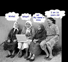 Four old ladies on the internet