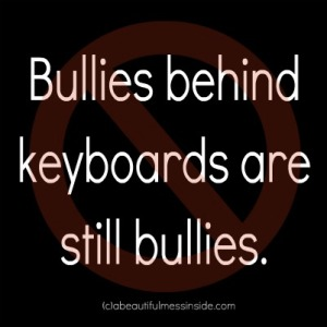 bullies behind keyboard