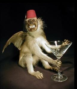 flying monkeys drinking