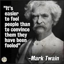 fooled people Mark twain
