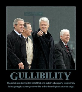 gullibility both parties.