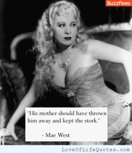 mae west the stork
