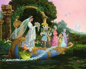 Bride painting