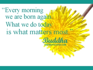 every morning Budhha