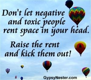 negative people rent free