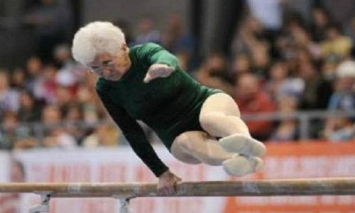old gymnastist