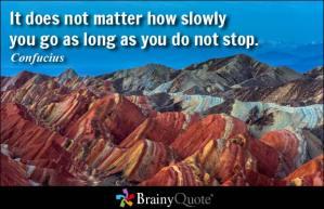 slowly going confucius
