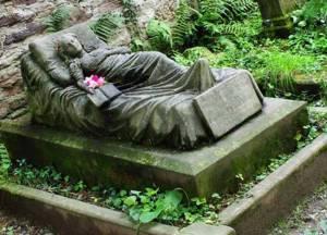 gravestone woman