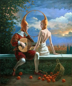 Obscurity-of-a-honeymoon  Michael Cheval