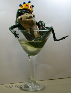 bullfrog in a glass