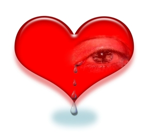 crying heart in pain