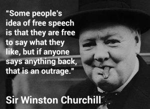 free speech churchill
