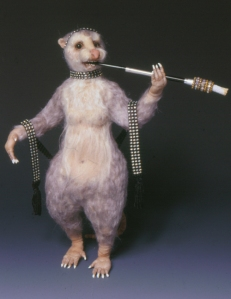 rat lady with jewels