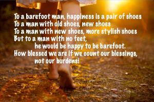 blessings barefoot