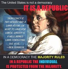 Constitutional republic Franklin
