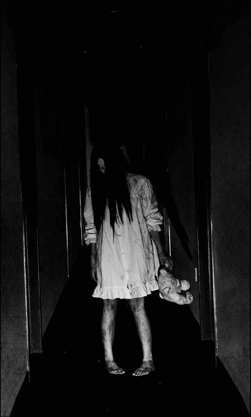 creepy shadow girl