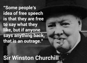 free speech Churchill